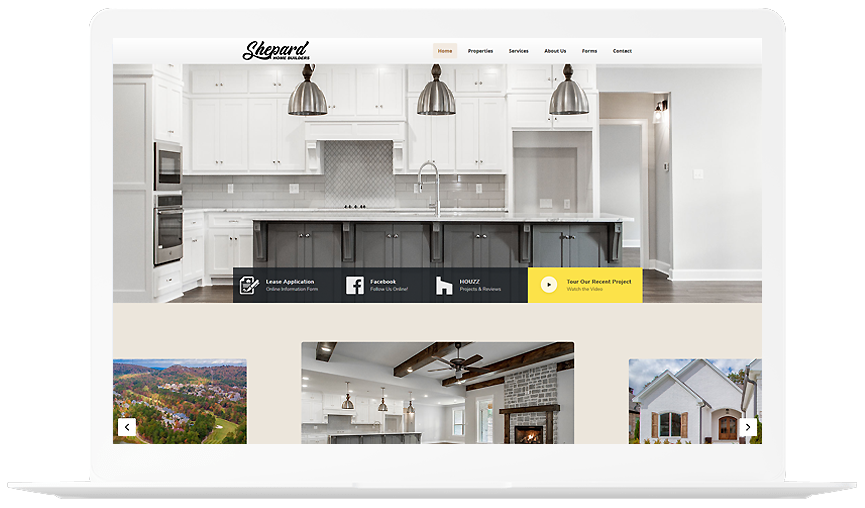Shepard home Builders Website